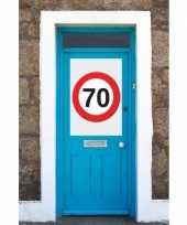 70 jaar verkeersbord deurposter a1