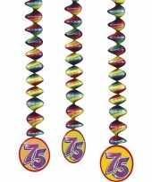 75 jaar decoratie rotorspiralen 6x stuks