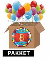 8 jarige feestversiering pakket