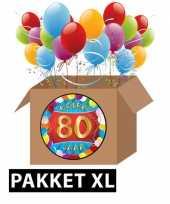 80 jarige feestversiering pakket xl