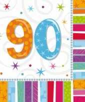 90 jaar feest artikelen servetten