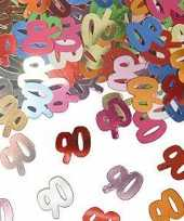 90 jaar verjaardags confetti