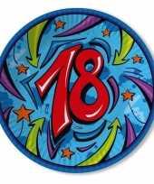 Achtien jaar borden 33 cm blauw