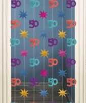 Deurgordijn met 50 print