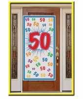 Deurposter 50 jaar 150 cm