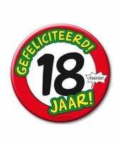 Feestartikelen xxl 18 jaar verjaardags button