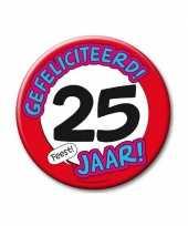 Feestartikelen xxl 25 jaar verjaardags button