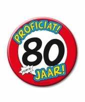 Feestartikelen xxl 80 jaar verjaardags button