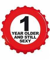 Fles opener 1 year older
