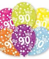 Gekleurde ballonnen 90 jaar
