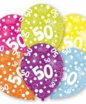 Gekleurde sarah verjaardag ballonnen 50 jaar 12 stuks