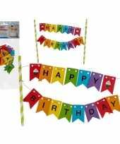 Gekleurde taart prikker happy birthday