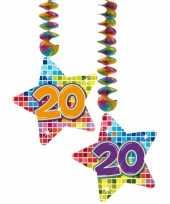 Hangversiering 20 jaar 2 stuks