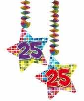 Hangversiering 25 jaar 2 stuks