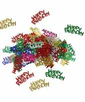 Happy birthday decoratie confetti 60 gram