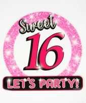 Hulde stopbord 16 jaar verjaardags sweet 16 feestdecoratie