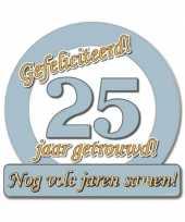 Jubileum borden 25 jaar getrouwd