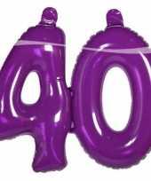 Paarse cijfers 40 opblaasbaar
