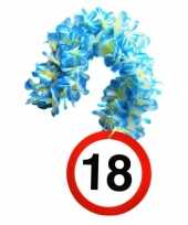 Verjaardag 18 jaar bloemenslinger