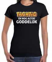 Verjaardag cadeau t shirt 80 jaar tachtig en goddelijk zwart voor dames