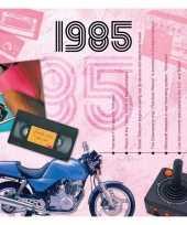 Verjaardagskaart met muziekhits uit 1985