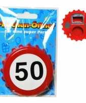 Verkeersbord flesopener 50 jaar